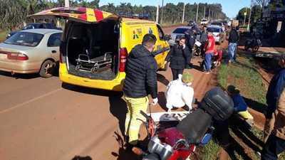 Accidente de tránsito deja dos lesionados y daños materiales en Minga