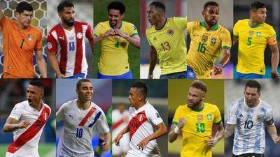 Almirón y Espínola, entre los mejores jugadores de la Copa América en fase de grupos