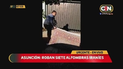 Roban siete alfombras iraníes en Asunción