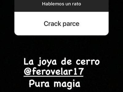 """Cerro y la """"joya"""" Ovelar: elogios de Carrascal en Instagram"""