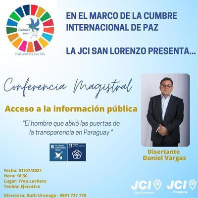 JCI de San Lorenzo con eventos en el marco de Cumbre Internacional de Paz