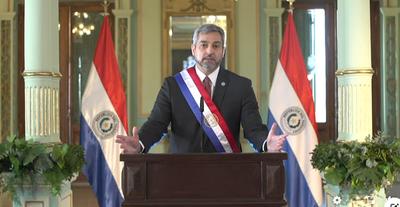 Mario Abdo en su informe presidencial: «Cuando finalice la pandemia, Paraguay estará de pie, con una economía más fortalecid
