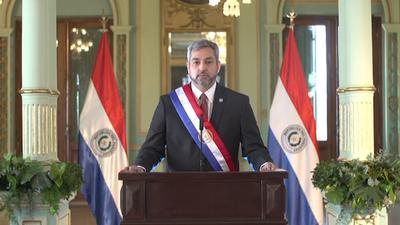 """Paraguay """"se encontrará con una economía en pie"""" tras el Covid, dice Mario Abdo"""