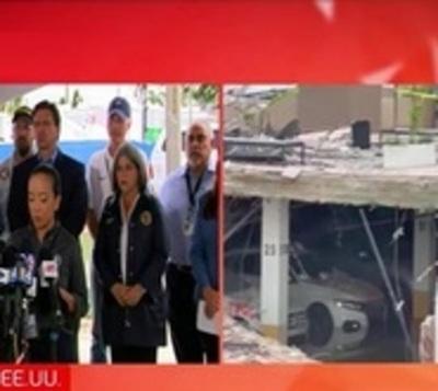 Suspenden operación de rescate en Miami por peligro de derrumbe