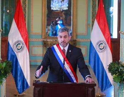 Mario Abdo: 'Cuando termine la pandemia, encontrarán de pie al Paraguay'