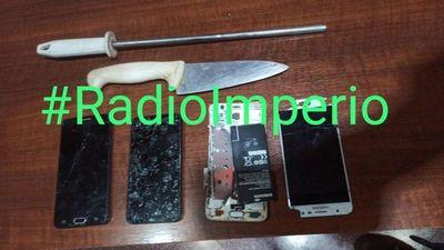 Detuvieron a dos sujetos con cuchillo en el barrio San Gerardo