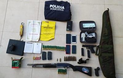 Confirman 3 detenidos e incautación de gran cantidad de armas de fuego y vehículos en Canindeyu