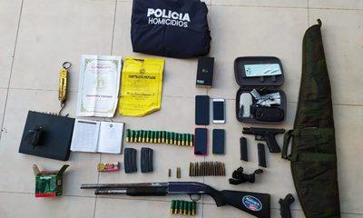 Canindeyú: Tres detenidos e incautación de armas tras allanamientos