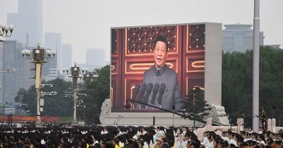 """La Nación / Xi Jinping celebra el avance """"irreversible"""" de China en centenario del Partido Comunista"""