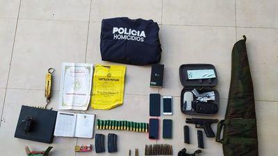 Policía detiene a tres personas e incauta armas de fuego en Yby Pytã