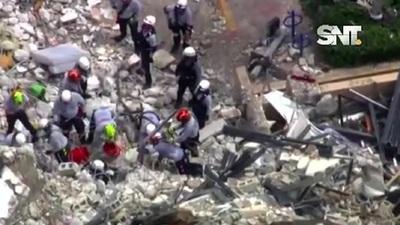 Miami Beach: Suspenden búsqueda por peligro de derrumbe
