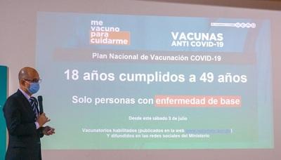 Sábado y domingo se vacunará contra el covid a personas de 18 a 49 años con enfermedades crónicas