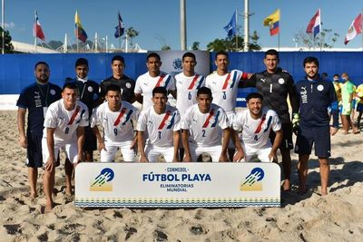 Brasil supera a Los Pynandi en Fútbol Playa