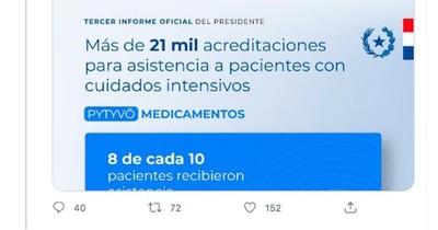 """La Nación / """"Se vanaglorió con Pytyvõ Medicamentos"""""""