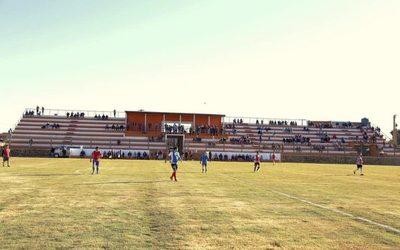 Habilitan estadio de fútbol en San Alberto