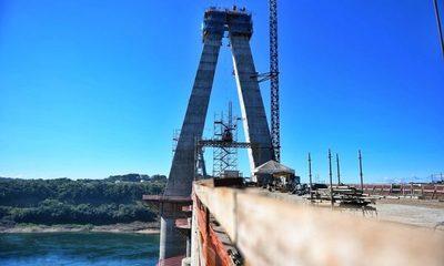Concluyó instalación de primera losa de transición de la torre principal del Puente de la Integración – Diario TNPRESS