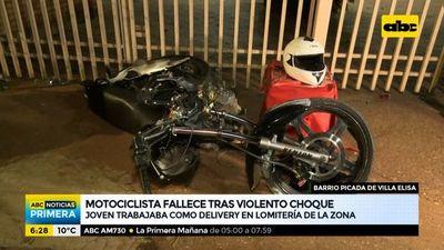 Joven delivery muere tras chocar con su motocicleta