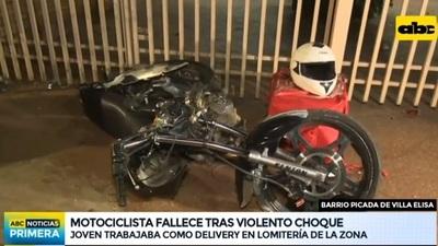 """Otro """"delivery"""" muere en choque contra vehículo"""