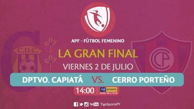 Capiatá y Cerro definen el título del fútbol femenino