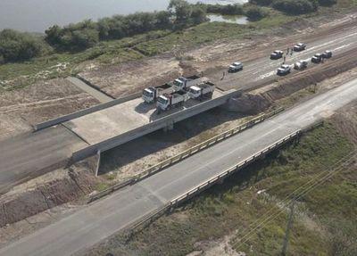 En la ruta Transchaco realizan prueba de carga para evaluar calidad de los puentes