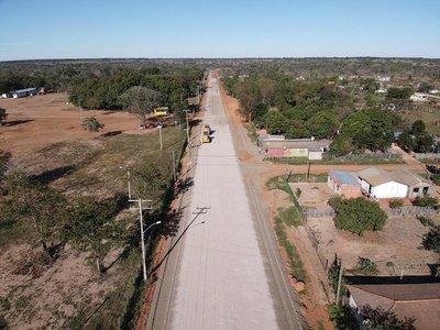 Avanza la construcción de nueva pavimentación asfáltica en Amambay