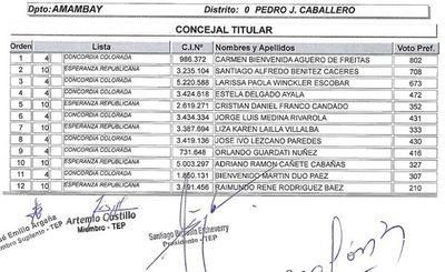 TEP  de la ANR aprobó resultados de las elecciones internas del 20 de junio