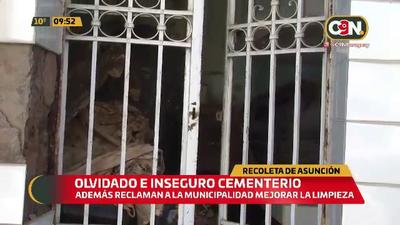 Recoleta de Asunción: Olvidado e inseguro cementerio