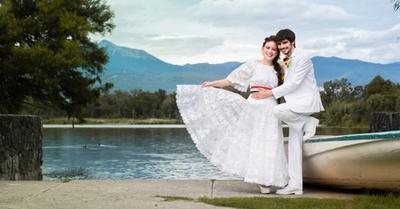 Imponente, brillante y deslumbrante boda de paraguaya en México