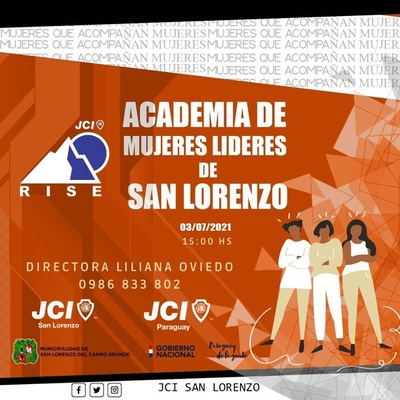 JCI: Realizarán evento Academia de Mujeres Líderes de San Lorenzo