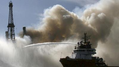 VIDEO: Fuerte explosión se registró en ducto marino en el Golfo de México