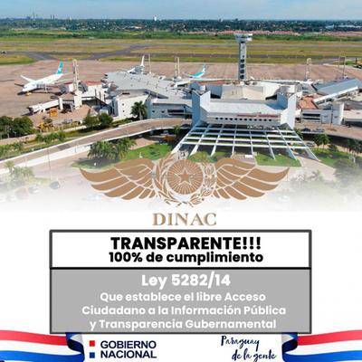 Dinac obtuvo el 100% del nivel de cumplimiento de la ley de transparencia e información pública