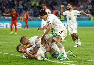 Italia se impone ante Bélgica y se medirá a España