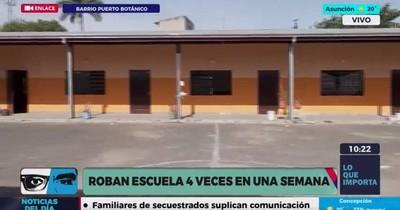 La Nación / Roban escuela por cuarta vez en la semana: delincuentes se llevaron hasta cuadernos