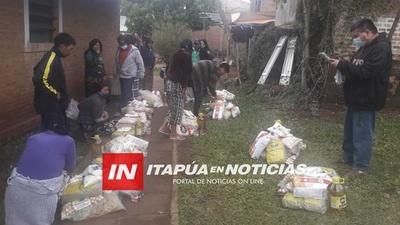 GOBERNACIÓN DE ITAPÚA E INDI ENTREGAN KITS DE VÍVERES A COMUNIDADES INDÍGENAS.