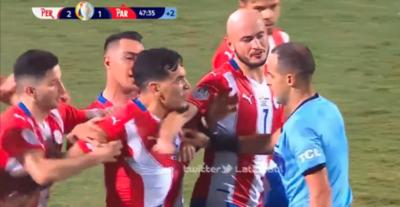 El mensaje de Gustavo Gómez para sus compañeros y para el árbitro uruguayo