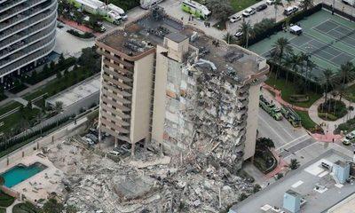 Suben a 20 los muertos tras derrumbe de edificio en Florida