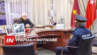 GOBERNADOR DE ITAPÚA RECIBIÓ AL NUEVO DIRECTOR DE POLICÍA.