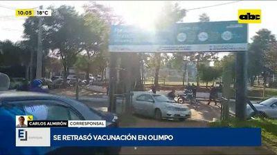 Se retrasó vacunación en Fuerte Olimpo porque no llegaron las vacunas