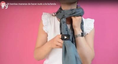 Con estilo: Te dejamos aquí 20 maneras de atar una bufanda (video)