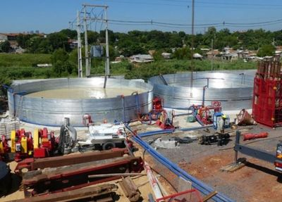 Construcción de segunda planta de tratamiento cloacal en Asunción registra un 47% de avance