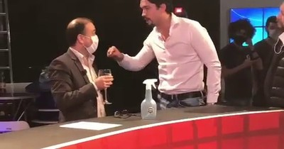 "La Nación / ""Toy boy"" de Zuni Castiñeira agrede a Juan Manuel Salinas tras finalizar programa"