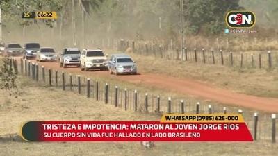 Tristeza e impotencia: Mataron al joven Jorge Ríos