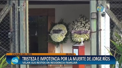 Tristeza e impotencia tras la muerte de Jorge Ríos