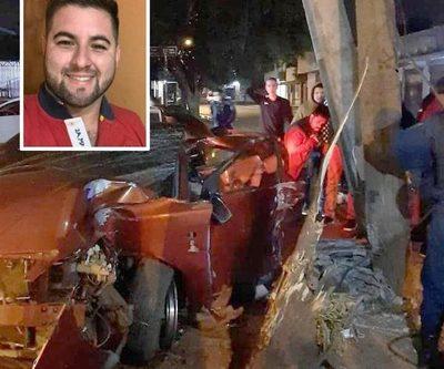 Joven muere al chocar contra una columna cuando huía de un control de la Policía – Diario TNPRESS