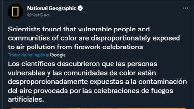 Llevando la estupidez a un nuevo nivel: Según National Geographic los fuegos artificiales del 4 de julio son racistas