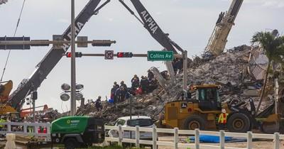"""La Nación / Tragedia en Miami: """"Casi cero"""" posibilidades de encontrar sobrevivientes"""