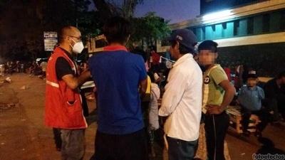 Más de 20 niños y adolescentes fueron llevados a refugios
