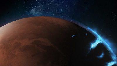 El orbitador de los Emiratos Árabes Unidos capta imágenes de auroras discretas en Marte