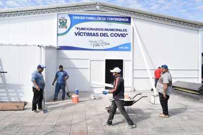 Inauguran tercer pabellón de contingencia en hospital de Villa Elisa