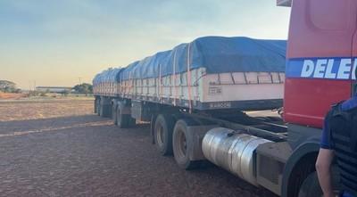 Más de 40.000 kilos de cemento de contrabando fueron incautados en PJC